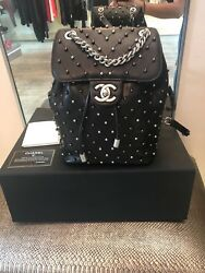 Rare Chanel Chevron Studded Stud Wars Backpack