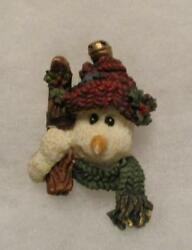 BOYDS SNOWMAN MAGNET (MADE FROM A PIN) JEAN CLAUDE THE SKIER