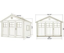 Lifetime Storage Shed  Carriage Style Tri-Fold Doors  60187 Storage Building 1