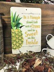Pineapple Sign Kitchen Decor Home Decor Metal Fruit Sign Pineapple Quote $16.80