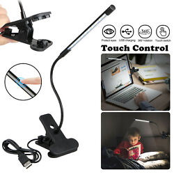 Adjustable USB LED Reading Studying Light Clip-on Clamp Bed Table Desk Lamp USA $8.97