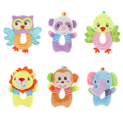 Cute O Shape Body Plush Animal Rattle Hand Bells Kids Baby Early Learning Toy