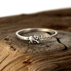 Chic 925 Silver Animal Elephant Ring Wedding Bridal  Christmas Gifts Jewelry New