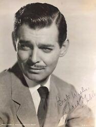 Clark Gable 8x10 autographed photo and letter LOA from Metro-Goldwyn-Mayer (MGM)