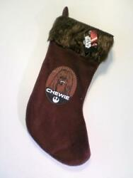 Star Wars Christmas Chewbacca Chewie Wookiee Novelty Boys Mens Fabric Stocking GBP 2.99