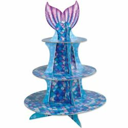 Mermaid Cupcake Stand 16quot; Paper Mermaid Party Girls Birthday Party Decoration $6.89