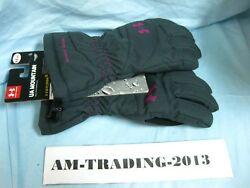 NWT Under Armour UA Mountain Gloves Storm M Medium Gray Pink $39.95