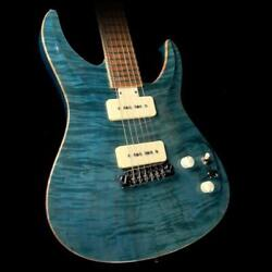 Used Giffin Macro Electric Guitar Peacock Blue