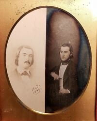 EARLY 1843 DAGUERREOTYPE COLUMBIA NY NYC FAMOUS AMERICAN EDUCATOR QUACKENBOS LLD