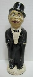 1930s CHARLIE McCARTHY Doorstop Solid Cast Iron Feed Me I Save RHTF Promo Proto