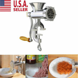 Meat Grinder Mincer Stuffer Hand Manual Sausage Filler Sauce Maker Machine US