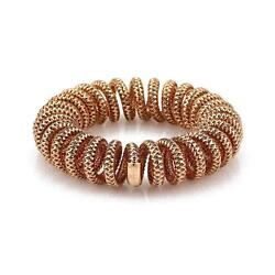 Roberto Coin 18k Rose Gold Basket Weave 16mm Coiled Stretch Bracelet