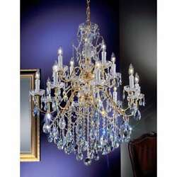 Classic Lighting Daniele Crystal Chandelier Gold Plated - 8399GPS