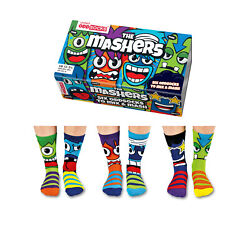 United Oddsocks Boys Mashers Socks Size 12 6 Boys Novelty Socks Fun Gift GBP 12.59