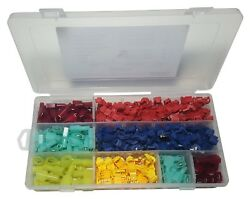 SPADE TERMINALS 240 PCS T TAP ELECTRICAL WIRE CONNECTOR ASSORTMENT KIT 120 PAIRS $13.99