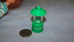 Barbie Real Light Up Camping Green Lantern Led Battery Operated NICE Coleman $4.99
