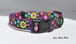 Daisy Flowers dog collar lead harness small med large FREE POSTAGE AU $20.00