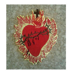 Sacred Heart - Jesus - Church - Catholic - Christian - Embroidered Iron On Patch