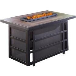 Outdoor Coffee Table Fire Pit Firepit Heater Gas Patio Garden Heating Aluminum