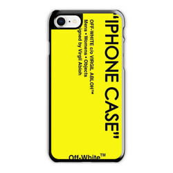 Off White Yellow Skin Case for iPhone 5 6 7 8 X XR XS MAX samsung cover case