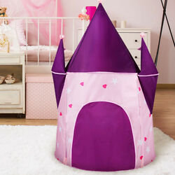 Kids Play Tents Toys Adorable Castle Playhouse Space Theme Prince Tent Home