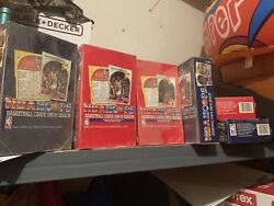 Lot of 12 1990-91 NBA Hoops Basketball Boxes Sealed 36-Packs Per Box NewSealed