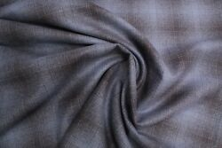 New Pendleton Blue and Black Plaid Shirt Weight wool fabric by the yard