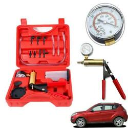 Hand Held Vacuum Pressure Pump Tester Set Brake Fluid Bleeder Bleeding Kit Box $16.59