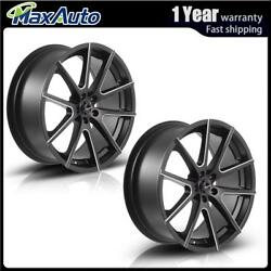 2 PCS Matt Black Milling spoke 20x8.5 inch 5x108 +35mm Wheels Rims For BMW X6