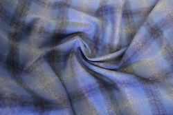New Pendleton Blue Ombre Plaid Shirt Weight wool fabric by the yard 58