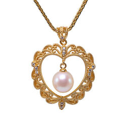 Exquisite 8.5mm White Round Freshwater Pearl Pendant in Sterling Silver Necklace