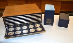 Franklin Mint History of the United States Sterling Silver Medal Set of 200