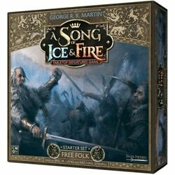 A Song of Ice and Fire Miniature Game Free Folk Starter NIB $85.00