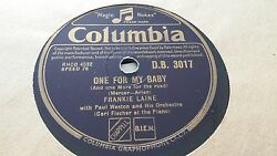 FRANKIE LAINE ONE FOR THE BABY & SHE REMINDS ME OF YOU COLUMBIA DB3017