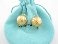 Tiffany & Co 18K Gold Picasso Kiss X Dome Earrings!