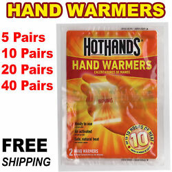 HotHands Hand Warmers 1 5 10 20 40 Pairs Safe Natural Odorless Pocket Heat  $8.95