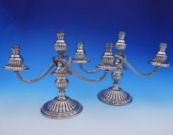 Imperial by Camusso Peruvian Sterling Silver Candelabra Pair 3-Light (#3177)