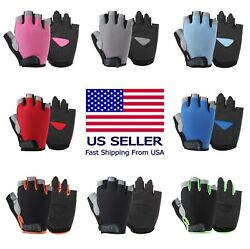 Sports Racing Bicycle Cycling Motorcycle MTB Bike Fitness Gel Half Finger Gloves $7.77