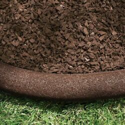 International Mulch Co. 64 ft. Rubberific Playground Borders Brown
