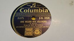 GUY MITCHELL SHE WEARS RED FEATHERS & WHY SHOULD I GO HOME COLUMBIA DB3238