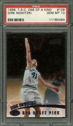 1998-99 t.s.c. one of a kind #109 DIRK NOWITZKI mavericks rookie (pop 1) PSA 10
