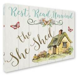 Jean Plout 'The She Shed 1' Gallery-Wrapped Canvas Art [ID 3650325]