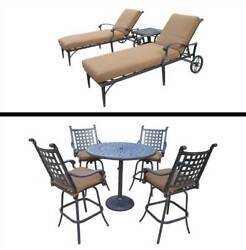 8-Pc Outdoor Bar and Lounge Set [ID 3684399]