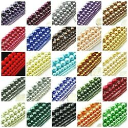 High Quality Glass Pearl Round Spacer Loose Beads 3mm 4mm 6mm 8mm 10mm 12mm 16quot; $4.59