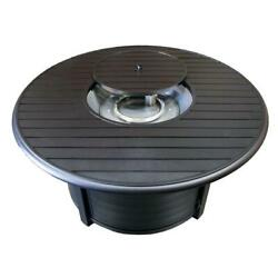 22 In. Cast Aluminum Round Slatted Fire Pit Firepit Heater Outdoor Patio Deck