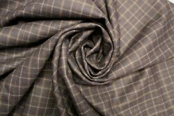 New Pendleton Blue and Gray Plaid Shirt Weight wool fabric by the yard