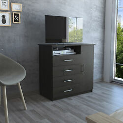 TUHOME Peru Collection Dresser W 4 Spacious Drawers1 Cabinet and 1 Storage She
