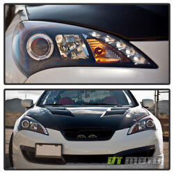 Black For 2010 2011 2012 Genesis 2Dr Coupe LED Halo Projector Headlights 10 12 $235.99
