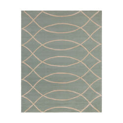 Surya CTY4013-810 Courtyard Outdoor Rug Blue and Neutral