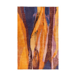 Surya BOL4000-46 Brought to Light 72 X 48 inch Orange and Blue Area Rug Wool
